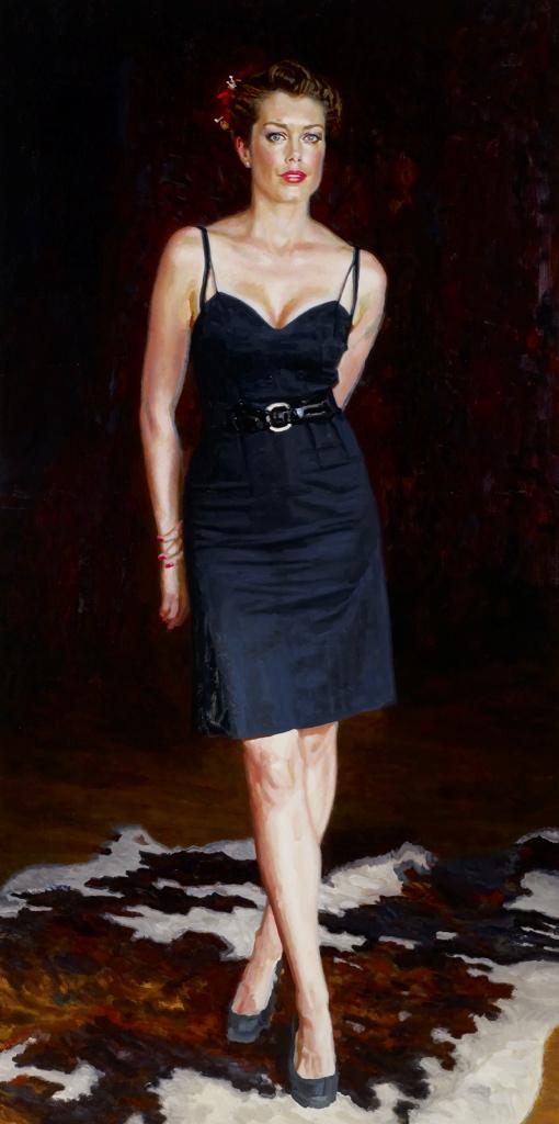 Mathew Lynn Tara Moss Archibald Prize 2013 Art