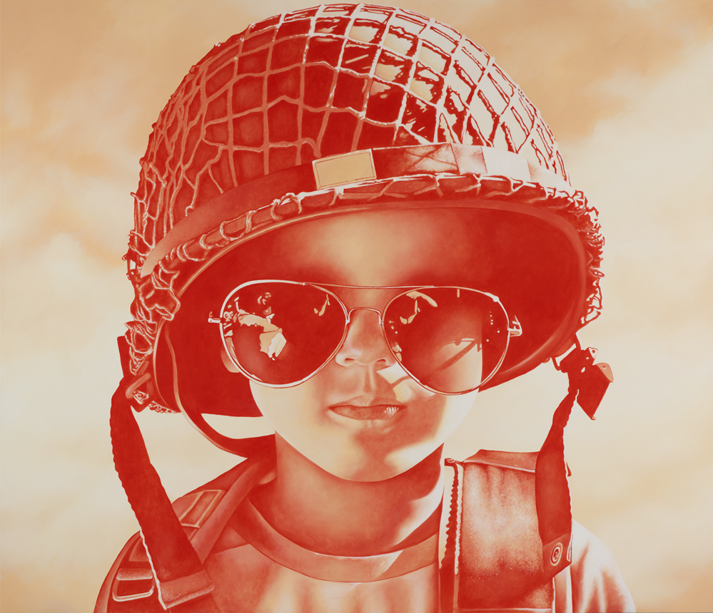 Us Army Surplus >> Michael Peck: Self-portrait in the image of my son :: Archibald Prize 2012 :: Art Gallery NSW
