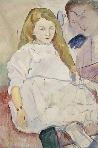 An image of Mother and child by Jules Pascin