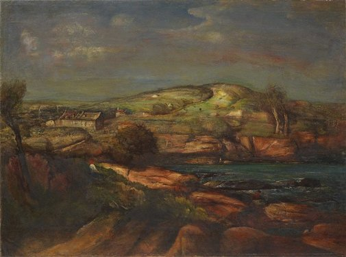 An image of Gerringong landscape by Lloyd Rees
