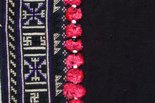 Alternate image of Woman's embroidered cross stitch garment with leaf pattern by Yao people
