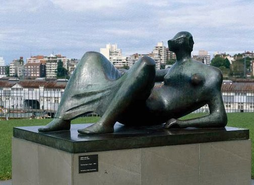 An image of Reclining figure: Angles by Henry Moore