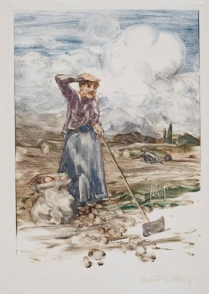 An image of Untitled (possibly Harvest) by Rupert Bunny