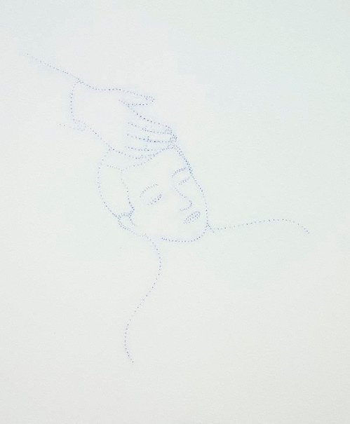 An image of Untitled (man asleep with hand on head) by Francis Alÿs